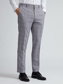 Burton Menswear London Burton Menswear London Check Slim Fit Trousers  ... Picture