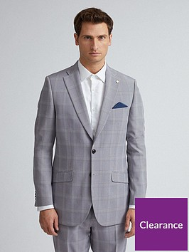burton-menswear-london-check-slim-fit-suit-jacket-ndash-grey