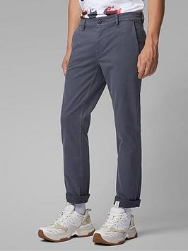 Boss Boss Schino Slim Fit Chino Trousers - Washed Navy Picture