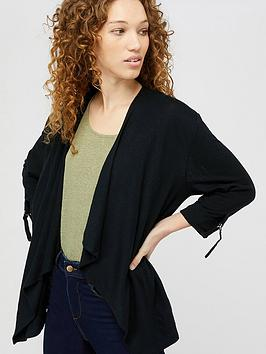 Monsoon Monsoon Callie Waterfall Linen Cover Up - Black Picture