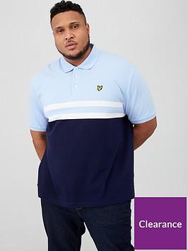 lyle-scott-big-amp-tall-yoke-stripe-polo-shirt-bluenavy