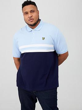 Lyle & Scott Lyle & Scott Big &Amp; Tall Yoke Stripe Polo Shirt - Blue/Navy Picture