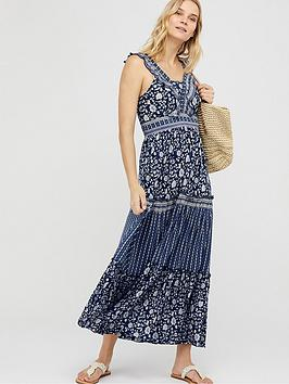 Monsoon Monsoon Farrah Jersey Lenzing Ecovero Maxi Dress - Navy Picture