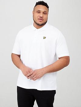 Lyle & Scott Lyle & Scott Big &Amp; Tall Plain Polo Shirt - White Picture