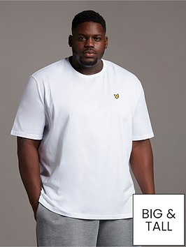 lyle-scott-big-amp-tall-plain-t-shirt-white
