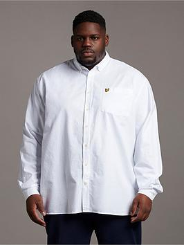 Lyle & Scott Lyle & Scott Big &Amp; Tall Long Sleeved Oxford Shirt - White Picture