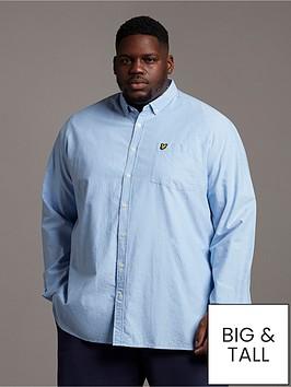 lyle-scott-big-amp-tall-regular-fit-oxford-shirt-light-blue