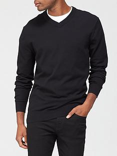 very-man-v-neck-jumper-black