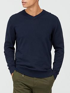 very-man-v-neck-jumper-navy