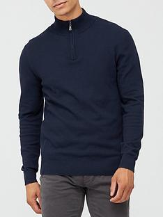 very-man-zip-neck-jumper-navy