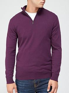 very-man-zip-neck-jumper-wine