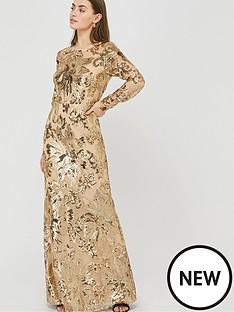 monsoon-long-sleeve-sequin-maxi-dress-rose-gold