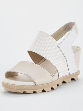 Sorel Sorel Joanie Ii Slingback Leather Wedge Sandal - White Picture