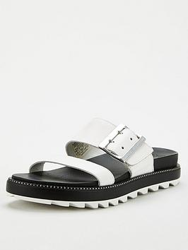 Sorel Sorel Roaming Flat Leather Sandal - Wite Picture