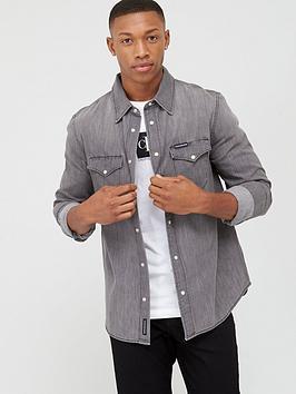 Calvin Klein Jeans Calvin Klein Jeans Modern Western Shirt - Grey Picture