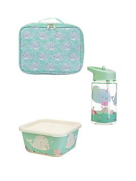 Sass & Belle Sass & Belle Alma Narwhal Lunch Bag, Lunch Box And Water  ... Picture