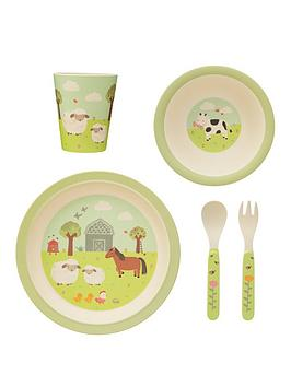 Sass & Belle Sass & Belle Farmyard Friends Bamboo Tableware Set Picture