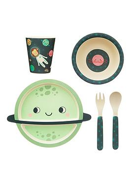 Sass & Belle Sass & Belle Space Explorer Bamboo Tableware Set Picture