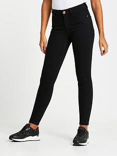 river-island-amelie-mid-rise-black-washed-super-skinny-jeansnbsp--black