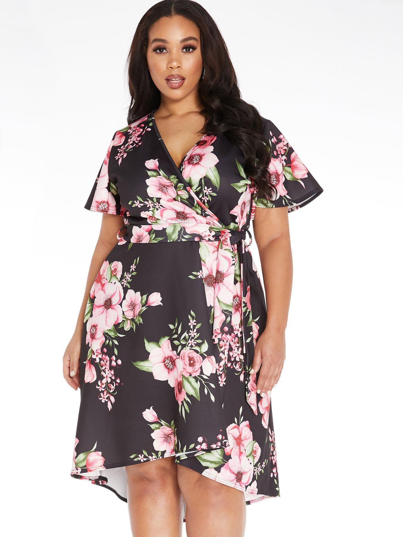 TOPSHOP New Black Pink Floral  Lace Up Tea Dress Size  6   RRP=£46