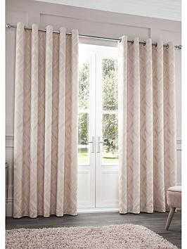 Catherine Lansfield Catherine Lansfield Myles Jacquard Eyelet Curtains Picture