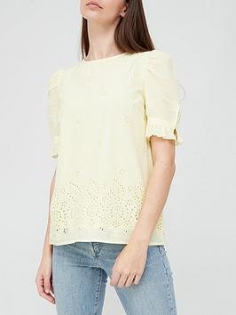 v-by-very-broderie-puff-sleeve-blouse-yellow