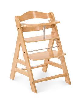 hauck-alpha-wooden-highchair-wood-finish