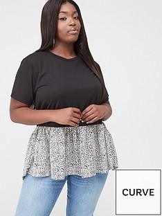 ax-paris-curve-short-sleeved-dip-hem-t-shirt-animal