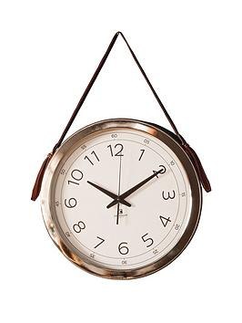 Gallery Gallery Yalding Wall Clock With Faux Hanging Strap Picture