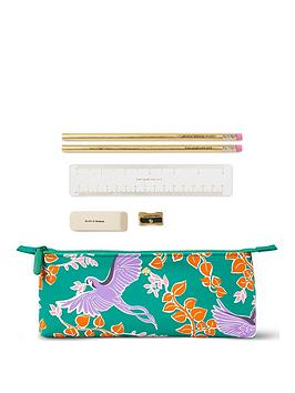 kate spade new york  Kate Spade New York Bird Party Pencil Case With Stationery