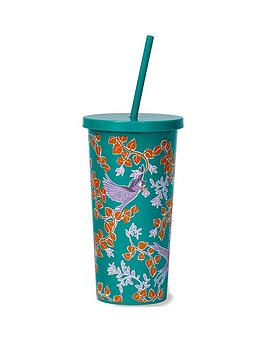 kate spade new york Kate Spade New York Bird Party Tumbler With Straw Picture