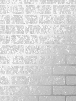 Superfresco Superfresco Milan Brick Wallpaper - Silver Picture