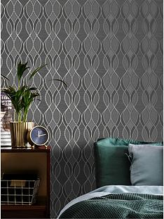 sublime-ribbon-geo-charcoal-wallpaper
