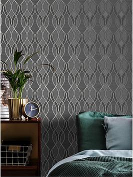 sublime-ribbon-geo-charcoal-wallpaper