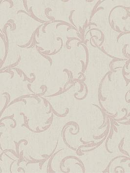 Superfresco Easy Superfresco Easy Empress Scroll Rose Gold Wallpaper Picture
