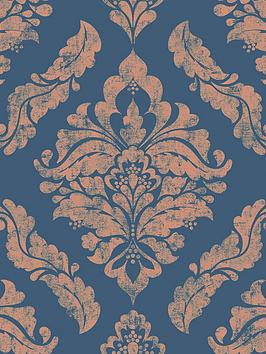 Boutique Boutique Damaris Blue / Gold Wallpaper Picture