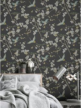 Sublime Japan Black / Green Wallpaper