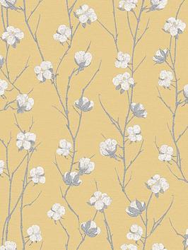 Superfresco Superfresco Cotton Flower Ochre Wallpaper Picture