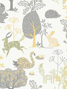 fresco-forest-critters-wallpaper