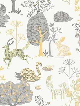 fresco-forest-critters-wallpaper
