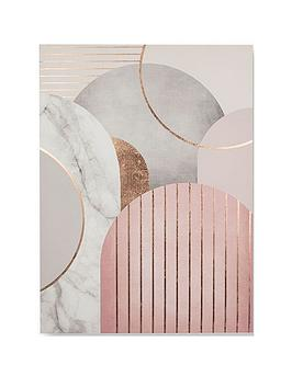 Graham & Brown Graham & Brown Pink &Amp; Grey Art Deco Canvas Wall Art Picture