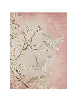 Graham & Brown Graham & Brown Graceful Cranes Canvas Wall Art Picture