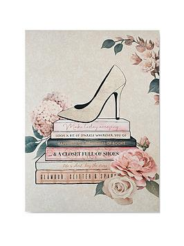 Graham & Brown Graham & Brown Fashion &Amp; Flowers Canvas Wall Art Picture