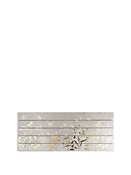 Graham & Brown Graham & Brown Metallic Meadow On Wood Wall Art Picture