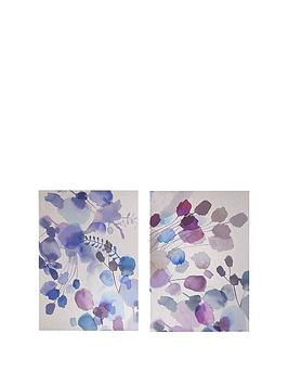 Graham & Brown Set 2 Expressive Blooms Canvases