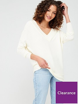 v-by-very-v-neck-slouchy-knitted-top-ivory