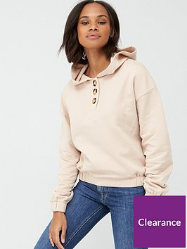 v-by-very-mock-horn-cropped-hoodie-stone