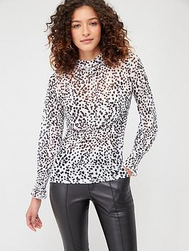 V by Very V By Very Dalmatian Spot Mesh Top - Spot Print Picture