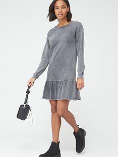 v-by-very-long-sleeve-peplum-hem-sweat-dress-grey