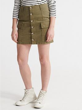 Superdry Superdry Alchemy Cargo Mini Skirt - Olive Picture